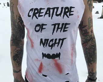 Creature Of The Night Distressed Tee