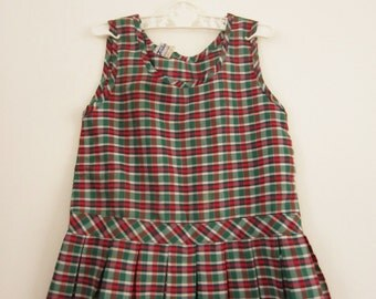 Vintage Plaid top/dress 92