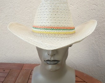 Size 6 3/4 -- Awesome 1960s Cowboy Hat