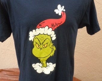 Size L (46) ** Dr. Seuss Grinch Shirt (Single Sided)