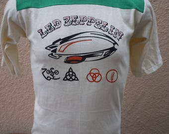 Size M (44) ** Old Stock 1970s Led Zeppelin Shirt (Single Sided)