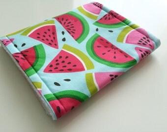 Burp cloth, Baby burp cloth, Watermelon burp cloth, Blue burp cloth, Baby shower gift, New baby gift, Burp cloth girl, Fruit burp cloth