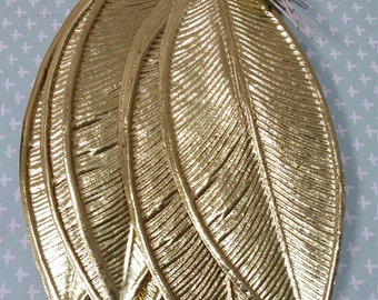 10, gold, foil, paper leaves on wires, Lee Wards gold, metallic paper leaves
