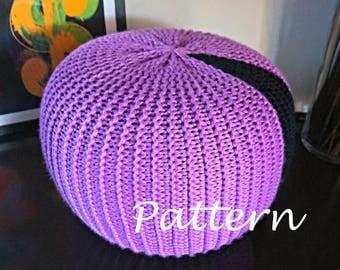 Knitted pouf pattern Etsy