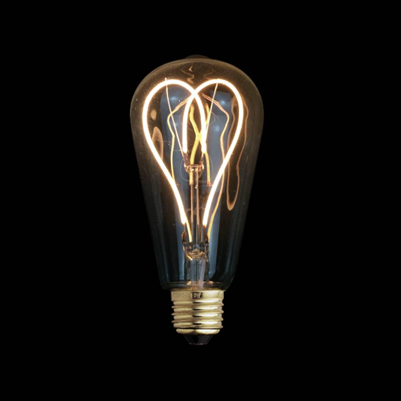 4W E27 LED Love Heart Edison Light Bulb 220V