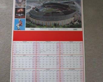 Vintage 1993 Cleveland Municipal Stadium Calendar Poster