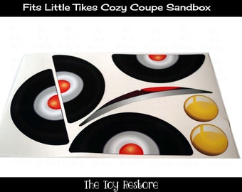 New Replacement Decals Stickers fits Little Tikes Tykes Cozy Coupe Sandbox