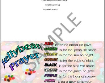 DIGITAL DOWNLOAD - Easter Jellybean Prayer