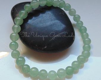 Green Aventurine 6mm Bead Beaded Stretch Bracelet ~ Gemstone Crystal Healing ~ Handmade