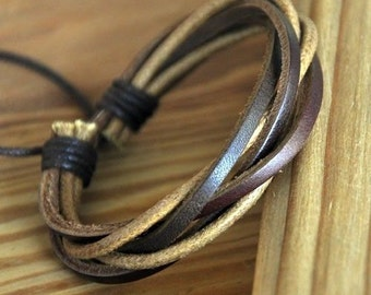 Leather And Copper Bracelet Men S Leather And Copper