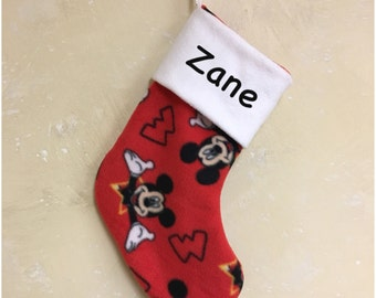 Mickey Mouse Christmas Stocking Personalized
