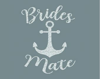 Brides Mate Anchor Iron On Decal