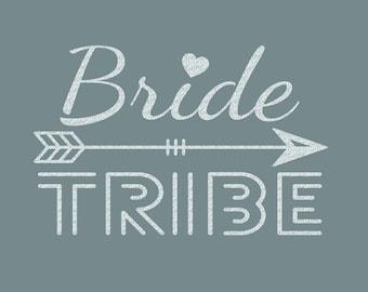Bride Tribe Arrow Iron On Decal