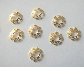 Japanese nail art etsy 3d gold snowflake nail charm 3d japanese nail art 4pcs prinsesfo Image collections