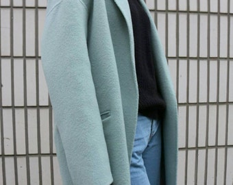 Menthe coat (made with 100% wool)-sample clearance