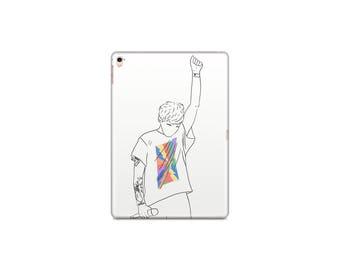 Just Hold On iPad 2/3/4 iPad Air 1/2 iPad Mini 1/2/3/4 Case One Direction Louis Tomlinson Illustration Portrait