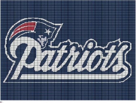 Crochet New England Patriots Colorwork Chart By Fadesigncharts