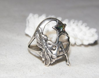 Sterling Silver Fairy Ring With Star