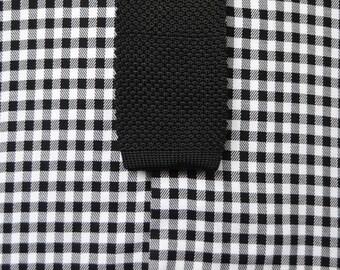 Classic black knit tie
