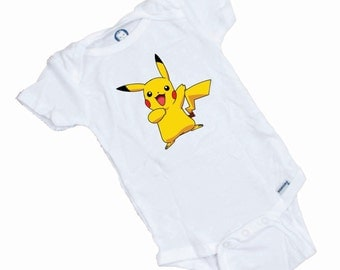 Pikachu  Pokemon funny baby onesie or tee shirt