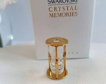 Swarovski Crystal Memories Classics Miniature Hourglass Figurine in Original Box RETIRED 1993/2005 Item# 9460 000 012 and 171202