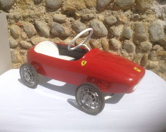 COLLECTIBLE! Restored 1950's French Childrens Pedal Car, Ferrari Morellet Guerineau Model. Beautiful Ferrari Red.. Awesome Item!!