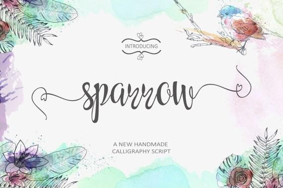 Sparrow script font handwritten download by foxgraphic