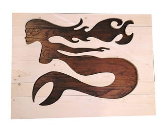 Mermaid, Custom Mermaid Wall Art, Wood Mermaid, Animal Art, Fantasy Wall Art