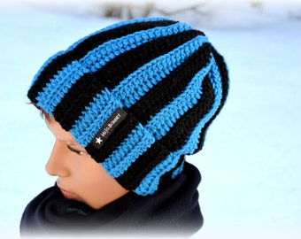 Cap cuff blue black XXL