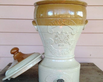 Stoneware Water Filter - Victorian - 1860s- J Bourne Company of Denby and Derby England