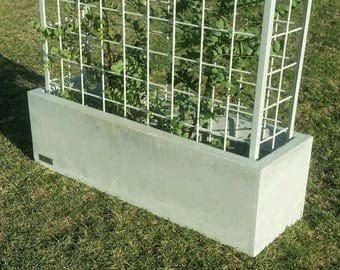 Vertical garden, polished concrete planter; large rectangular garden, patio or outdoor planter box