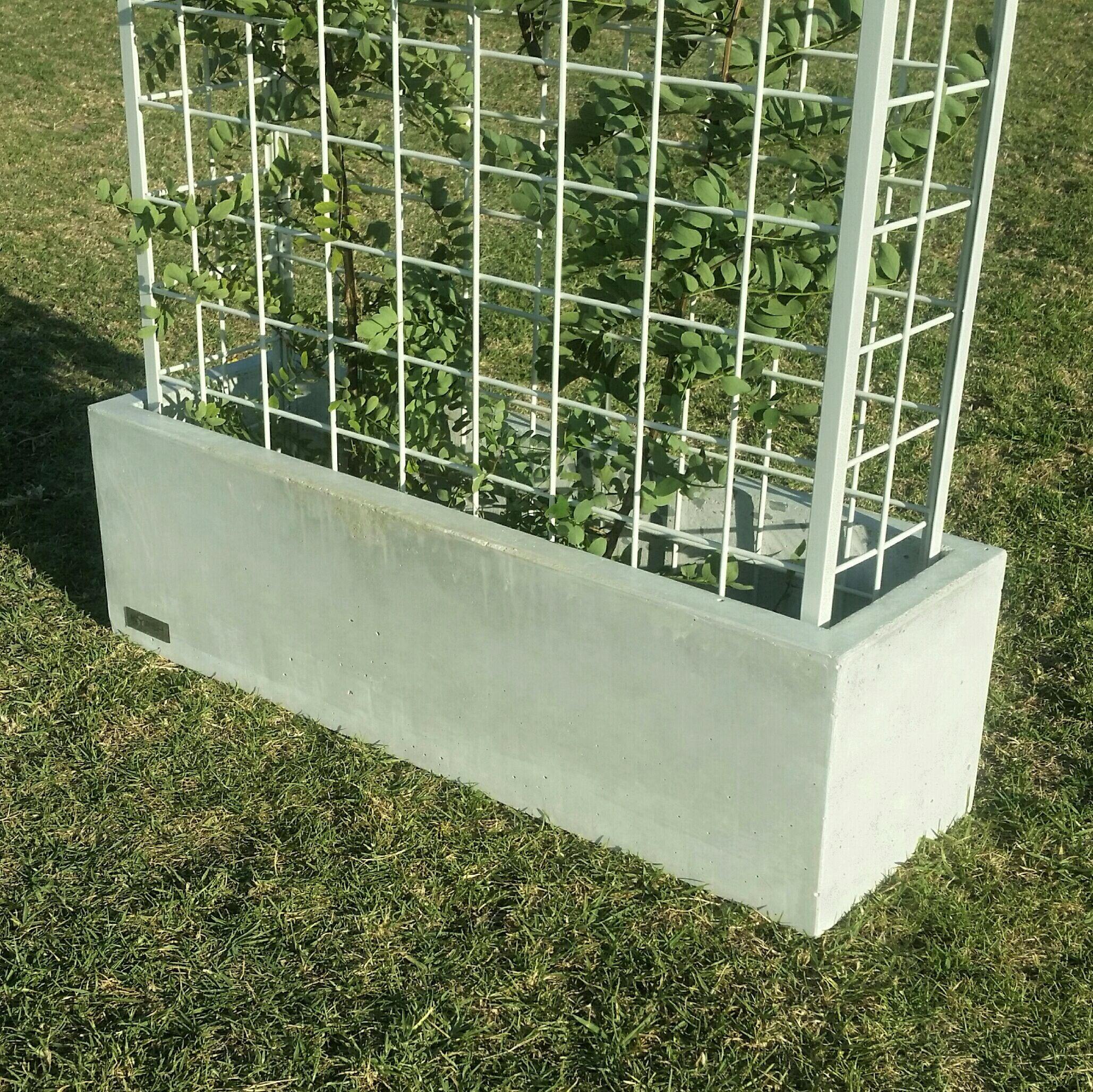 Concrete Outdoor Kitchen Countertops: Vertical Garden Polished Concrete Planter Large Rectangular