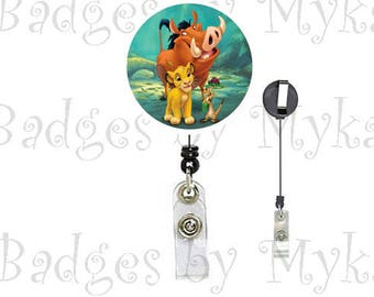 Retractable ID Badge Holder - Lion King