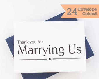 Priest Thank you Card, Officiant Thank You Card, Minister Thank You Card, Wedding Day Cards, Thank you Card (WC175-PR)
