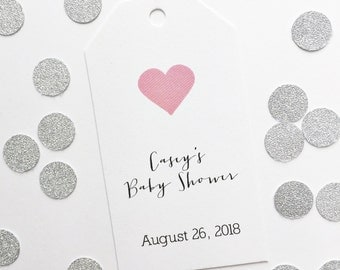 Baby Shower Tags, Customized Baby Shower Tags, Custom Favor Tags (MLT 044