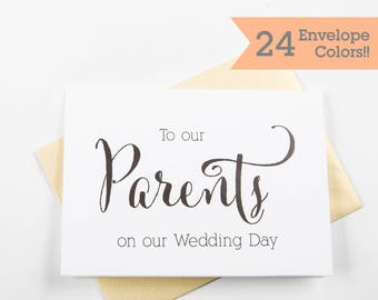 To Our Parents On Our Wedding Day Card, Wedding Day Card, Wedding Day Cards (WC045-CN)