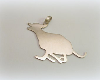 Silver Greyhound pendant