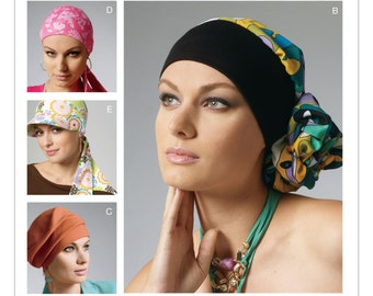 OUT of PRINT McCall's Pattern M6521 Headband, Head Wraps and Hats