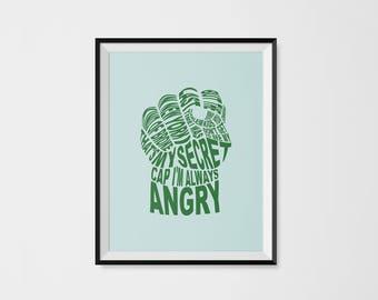 Avengers Typography - Hulk's Fist
