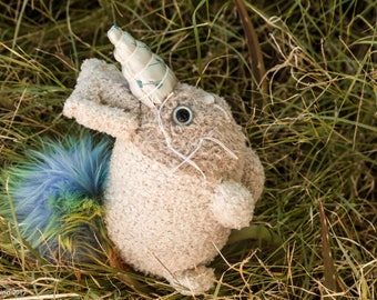 Rabbit Unicorn Plush-Rabbit Plush-Unicorn Plush-Rabbit-Unicorn-Bunny-Rainbow-Brown-Pastel-Stuffed Animal-Handmade