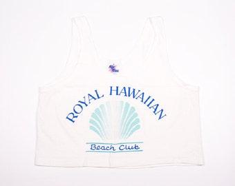 Vintage Royal Hawaiian Beach Club Crop 90s Tshirt Tank Top