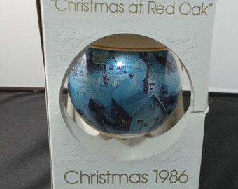 1986 Lowell Davis Signed Christmas Ornament Christmas at Red Oak