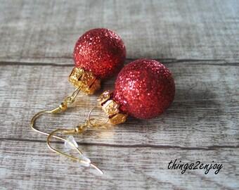 """Ear hanger """"Merry Christmas"""""""
