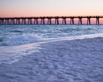 Digital Backdrop of White Sand Beaches