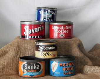 6 Coffee Tins Instant Collection