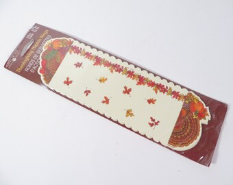 16  Vintage Paper Turkey Napkin Rings -  Cardboard Thanksgiving Turkey Napkin Rings