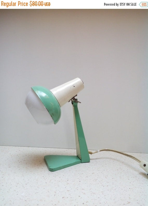 ON SALE Vintage Mint Desk Lamp fice Table by AntiquEmporiums