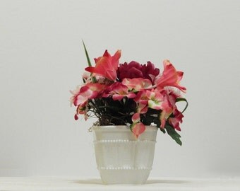 Home Decor, Gifts For Mom, Centerpiece, Floral Centerpiece, Silk Flowers, Flower Arrangement, Silk Floral, Spring Decor