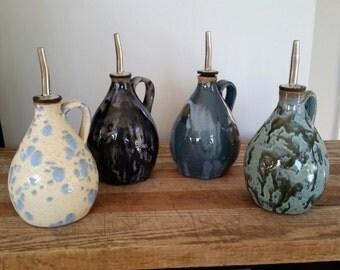 Ceramic Olive oil dispenser, pottery, kitchen ware, hand made