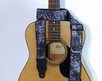 Guitar Strap. World Map Guitar Strap, for Guitar, Bass Guitar & More, Bright Gift for Musicians. Soft. Padded. Durable.
